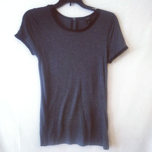 Ann Taylor Women Xsmall Gray Blouse Modal Zipper
